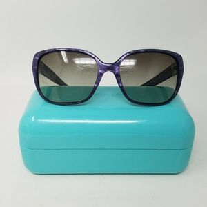 Tiffany & Co purple marble sunglasses with case